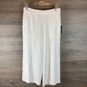 DKNY white wide Leg Pants NWT